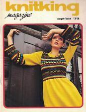 KnitKing Oct 1973 Vintage Machine Knitting Patterns Hip Boho Retro Hippie Mod