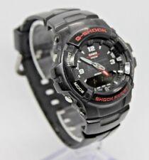 CASIO G-SHOCK G-100 Analog Digital Chrono Watch, Black/Red, Module 2327