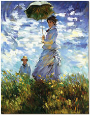 Woman with a Parasol - Hand Painted Claude Monet Oil Painting On Canvas Wall Art