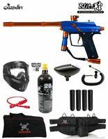 Maddog Azodin Blitz 4 Specialist Paintball Gun Starter Package Blue Orange