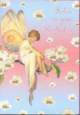 Margaret W.Tarrant's Fairies The Pear Blossom Fairy Relax on your Birthday card
