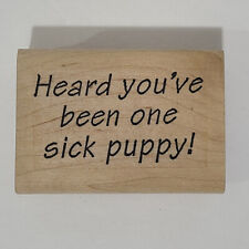 Sick Puppy Rubber Stamp Store Get Well