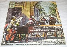W.A.Mozart Quartette f. Klavier Violine g-moll KV478 u.#2 Es-dur KV 493 LP Vinyl