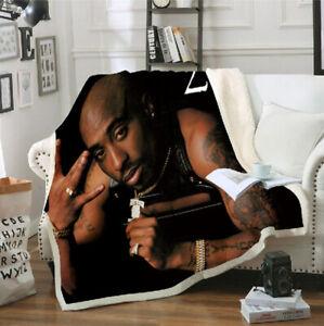 Super Soft Warm 2Pac Tupac 3D Print Blanket Cover Fleece Throw Blanket