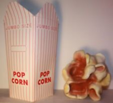 Think large giant huge big popcorn and box advertising store display hollywood