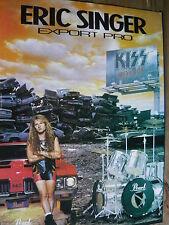 KISS (ERIC SINGER) - MAGAZINE CUTTING (FULL PAGE ADVERT) (REF XH)