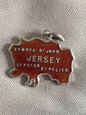 JERSEY Silver Travel Shield Enamel Charm