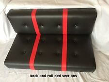 Caravan campervan seating cushions rock and roll bed curtains made to measure