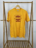 VTG 80s Hanes Marines Communications Company Wire Yellow T-Shirt Size XL USA