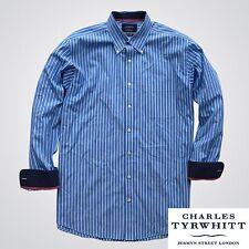 Nice Charles Tyrwhitt Weekend L Classic Fit Mens Dress Shirt Blue Stripes