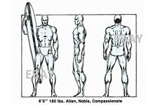 Vintage Marvel Style Guide Print - SILVER SURFER
