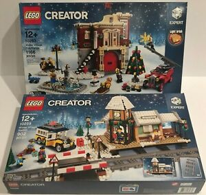 LEGO 10259 Winter Village Station and 10263 Fire Station - NEW SEALED IN BOXES
