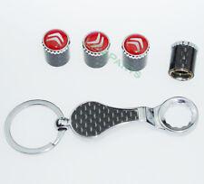 Neue Schlüsselbund Diebstahlschutz Reifen Stem Ventilkappen für Citroen
