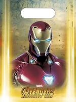 AVENGERS INFINITY WAR PACK OF 6 PARTY LOOT BAGS MARVEL DISNEY IRON MAN NEW