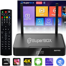Superbox S2 Pro Reproductor de medios, 6K Android 9.0 TV de doble Band Wi-Fi 2.4G/5G - 2021