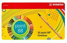 STABILO Point 88 Fineliner Pen - Assorted Colours 47(Pack of 50)