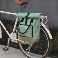 Tourbon Nylon Roll-top Clip-On Bike Pannier Backpack Women's Shoulder Tote Bag