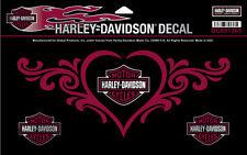 "Original Harley-Davidson Adesivo ""LOVE HEART"" adesivo Glitter DC091365"