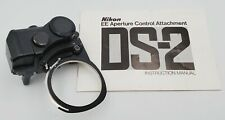 Vintage Nikon DS-2 EE Aperture Control Attachment for Nikon F2 with Manual