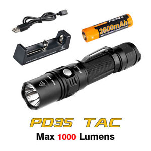 Fenix PD35 TAC LED Waterproof Pocket Tactical Flashlight Torch+Battery+Charger