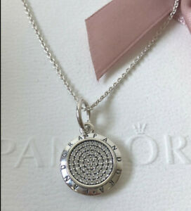 AUTHENTIC PANDORA SILVER SIGNATURE NECKLACE #390375CZ-70 27.6IN S925 WITH POUCH