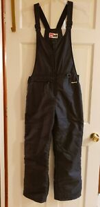 SKIGEAR BLACK SNOW SKI BIB WINTER WATERPROOF BIBS PANTS SNOWBOARD SIZE XL YOUTH