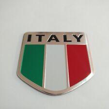 Italy Flag Emblem Badge Decal Car Front Side Bumper Sticker Aluminum alloy