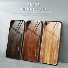 Wood tempered glass phone case For iPhone 11 Pro 7 8 6 6S plus Tempered cover