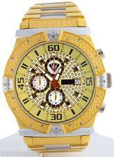 Aqua Master Men's Brown Chrono Dial Stainless Steel Diamond Quartz Watch W345-d