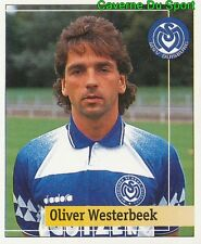 208 OLIVER WESTERBEEK GERMANY MSV DUISBURG STICKER FUSSBALL 1995 PANINI
