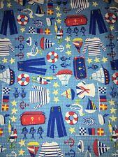 NAUTICAL Fabric 1/4 yard! Grear For Kids!