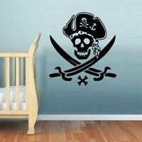 Wall Decal Vinyl Sticker Decor Art Bedroom Nursery Kids Baby Pirate Skull Z1126