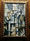 Pablo Picasso oil on canvas museum painting signed & stamped framed Fine Art
