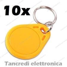 10x Tag token rfID 13.56 MHz lettore RC522 compatibile NFC Arduino PIC arancione