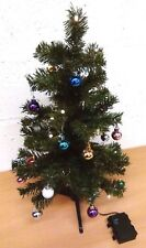 2ft LED prelit decorated xmas table top Christmas tree shop display student flat