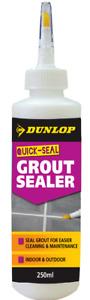GROUT SEALER 250ml Dunlop Quick Seal Waterproof Sealant