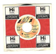 Al Green You Say It Gotta Find A New World PROMO Soul HI 45 Record M- OLD STOCK