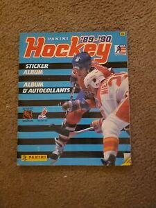 Panini 89-90 Hockey Sticker Album. 95% full