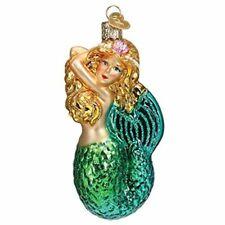 Old World Christmas 10234 Glass Blown Seashell Mermaid Ornament