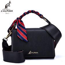 """L""""Alpina Luxus Handtasche Crossbody Schulter- Umhängetasche Leder Damen Schwarz"""