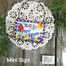 Papi * Mini Sign Wood Ornament Family DecoWords Year Round Decor USA New in Pkg