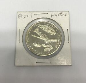 """Liberia 5 Dollar Coin (2000) """"Attack On Pearl Harbor"""" Commemorative Ed."""