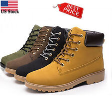 Summer Men Ankle Boots Fur Lined Outdoor Anti-Slip Fashion Martin Boots Shoes