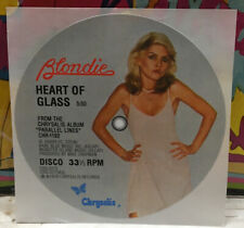 Blondie Heart Of Glass Record Label Sticker