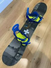 Burton Process Smalls 130cm Kids Youth Snowboard, Mission Bindings & Stomp Pad