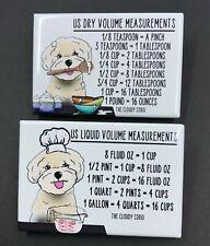 Shih Tzu Kitchen Chart Magnet Set Pekingese Dog Baking Measurement Guide