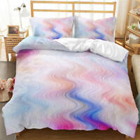 Great Curved Rendering Lines 3D Quilt Duvet Doona Cover Set Pillow case Print