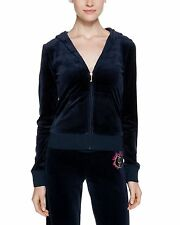 NWT Juicy Couture Velour Original Hoodie, Regal, Small, $138