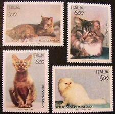 """1993 Italia Repubblica serie """" gatti animali domestici """" nuova MNH**"""