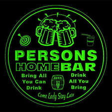 4x ccq34721-g PERSONS Home Bar Ale Beer Mug 3D Engraved Drink Coasters